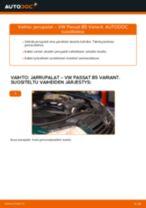VW PASSAT Variant (3B6) Takajarrupalat ja etujarrupalat asennus - vaihe vaiheelta korjausohjeet