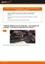 VW Brzdové doštičky zadné a predné vymeniť vlastnými rukami - online návody pdf