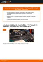 Ako vymeniť zadné brzdové platničky na VW Passat B5 Variant – návod na výmenu