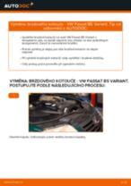 Jak vyměnit zadní brzdové kotouče na VW Passat B5 Variant – návod k výměně
