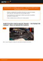 Tutorial passo a passo em PDF sobre a substituição de Maxilas de Travão no VW PASSAT Variant (3B6)