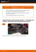 Aprenda a corrigir o problema do Pastilhas De Travão traseira e dianteiro VW