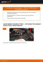 VW PASSAT Piduriklotsid vahetus: tasuta pdf