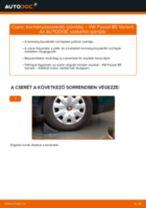Kormányösszekötő gömbfej-csere VW Passat B5 Variant gépkocsin – Útmutató