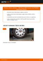 Stūres šķērsstiepņa uzgalis nomaiņa VW PASSAT: tiešsaistes pamācības