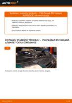 Kaip pakeisti VW Passat B5 Variant stabdžių trinkeliu: priekis - keitimo instrukcija