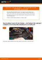 Schimbare Placute Frana VW PASSAT: pdf gratuit