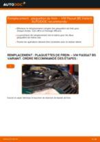 Comment changer : plaquettes de frein arrière sur VW Passat B5 Variant - Guide de remplacement