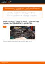 Comment changer : étrier de frein avant sur VW Passat B5 Variant - Guide de remplacement
