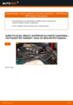 Como mudar braço superior da parte dianteira em VW Passat B5 Variant - guia de substituição