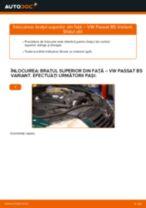 Cum se înlocuiesc și se ajustează Brat oscilant VW PASSAT: manual pdf