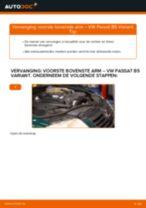 Hoe voorste bovenste arm vervangen bij een VW Passat B5 Variant – vervangingshandleiding
