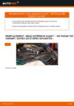 Comment changer Bras transversal arrière et avant VW PASSAT Variant (3B6) - manuel en ligne