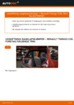 Skifte Gasfjeder bagklap RENAULT TWINGO: guider online