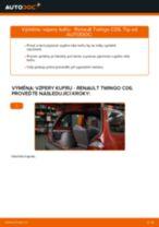 PDF návod na výměnu: Plynová vzpěra zadních dveří RENAULT TWINGO I (C06_)