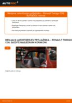 RENAULT Twingo II Kasten / Schrägheck (CNO_) navodila za popravilo in vzdrževanje