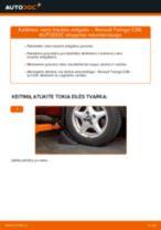 Pakeisti Vidinė Skersinė Vairo Trauklė RENAULT TWINGO: instrukcija