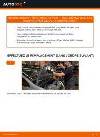 Comment effectuer un remplacement de Plaquettes de Frein sur 1.7 CDTI (E75) Opel Meriva A