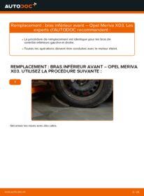 Comment effectuer un remplacement de Bras de Suspension sur 1.7 CDTI (E75) Opel Meriva A