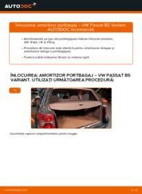 Cum să efectuați înlocuirea: Amortizor Portbagaj la 1.9 TDI Passat 3B6