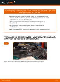 Vervangen: Remschijven VW PASSAT