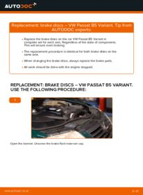 How to carry out replacement: Brake Discs on 1.9 TDI Passat 3B6
