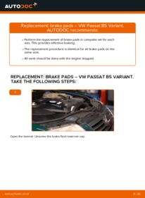 How to carry out replacement: Brake Pads on 1.9 TDI Passat 3B6