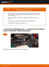 Slik bytter du Bremseskiver på VW PASSAT