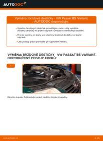 Jak provést výměnu: Brzdové Destičky na 1.9 TDI Passat 3B6