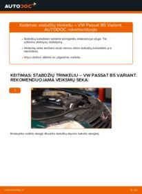 Kaip atlikti keitimą: 1.9 TDI Passat 3B6 Stabdžių Kaladėlės