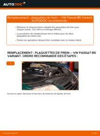 Comment effectuer un remplacement de Plaquettes de Frein sur 1.9 TDI Passat 3B6
