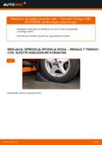 Priročnik PDF o vzdrževanju TWINGO