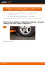 Come cambiare braccio inferiore anteriore su Renault Twingo C06 - Guida alla sostituzione