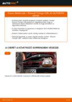 Elülső féktárcsák-csere Renault Twingo C06 gépkocsin – Útmutató