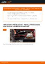 Hoe Remslang veranderen en installeren RENAULT TWINGO: pdf handleiding