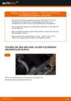 Online-Anteitung: Scheibenbremsen belüftet austauschen VW TOURAN (1T1, 1T2)
