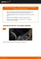 Byta bromsskivor bak på VW Touran 1T1 1T2 – utbytesguide