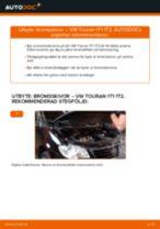 Byta bromsskivor fram på VW Touran 1T1 1T2 – utbytesguide