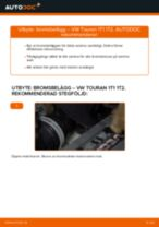 Byta bromsbelägg bak på VW Touran 1T1 1T2 – utbytesguide