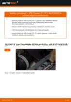 Kuinka vaihtaa jarrulevyt taakse VW Touran 1T1 1T2-autoon – vaihto-ohje