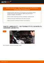 Kuinka vaihtaa jarrulevyt eteen VW Touran 1T1 1T2-autoon – vaihto-ohje