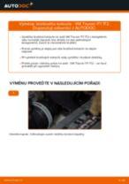 Jak vyměnit zadní brzdové kotouče na VW Touran 1T1 1T2 – návod k výměně