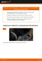 Kako zamenjati avtodel zavorni diski zadaj na avtu VW Touran 1T1 1T2 – vodnik menjave