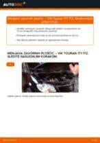 Kako zamenjati avtodel zavorne ploščice spredaj na avtu VW Touran 1T1 1T2 – vodnik menjave
