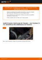 Como mudar e ajustar Calços de travão VW TOURAN: tutorial pdf