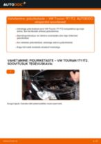 Automehaaniku soovitused, selleks et vahetada välja VW Touran 1t1 1t2 2.0 TDI 16V Õõtshoob