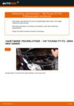 Kuidas vahetada ja reguleerida Piduriklotsid VW TOURAN: pdf juhend