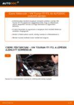 Elülső féktárcsák-csere VW Touran 1T1 1T2 gépkocsin – Útmutató