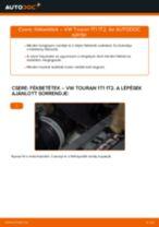 Hátsó fékbetétek-csere VW Touran 1T1 1T2 gépkocsin – Útmutató