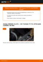 Kā nomainīt un noregulēt Bremžu uzlikas VW TOURAN: pdf ceļvedis